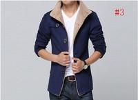 Autumn and winter plus velvet thickening woolen jacket men casual coat winter clothes denim outerwear male vintage 2Jack