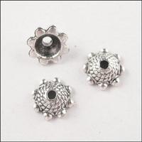 YBB 8mm Zinc alloy Tone Tiny Flower End Tibetan Antiqued Silver Bead Caps Jewelry accessories PY813