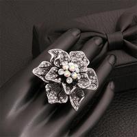 Free shipping! Fashion big rings 2015, cheap fashion jewelry big flower rings for women USR522