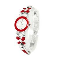 Free shipping lady's gender bracelet watch,butteyfly chain quartz watch F066
