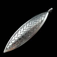 YBB Wholesale 15x65mm Zinc alloy Antiqued Tibetan Silver Hollow Flower Branch Weave Leaves Charms Metal Pendants LY572