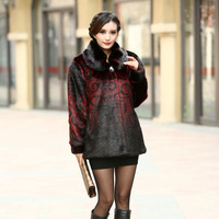 Winter women's 2014 fur coat quinquagenarian mother clothing winter marten velvet overcoat mink