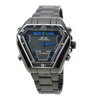 Fashion hot geneva watch machinery quartz watch high quality Stainless steel material men's watch