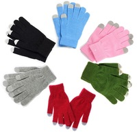 100 pairs Screen touch gloves Unisex Men Women Luvas/guantes Stretchy Soft Warm Winter gloves mittens for iPhone Mobile iPad