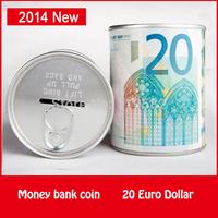 20 Euro France Dollar Design Coin Money Bank Store Metal Pen Holder Functions Money Coin Bank
