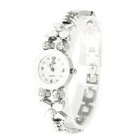 Free shipping flower bracelet watch,female rhinston wrist watch F066