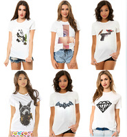 New Fashion T Shirt Panda Shirt Round Neck Short Sleeve Women Tops T-shirts with Many Design Free Shipping