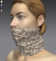 Desert camouflage skull design magic neck tube bandana for girl
