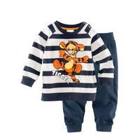 free shipping Retail 2-7 years baby 100% cotton baby clothing kids pajama sets pajama christmas pajamas