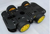 Free shipping smart car chassis / 4 wd / 4 wheel drive/strong magneto/belt encoder/speed / 5 mm double chassis