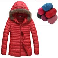 ADIDA Winter jacket Woman's Outerwear Slim Hooded Down Jacket Woman Winter Warm Down Coat Woman Light White Duck Down Brand Coat