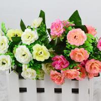1PCS Bouquet European Household Goods Bedroom Living Room Simulation Silk Flower Artificial Flowers cheap-fine