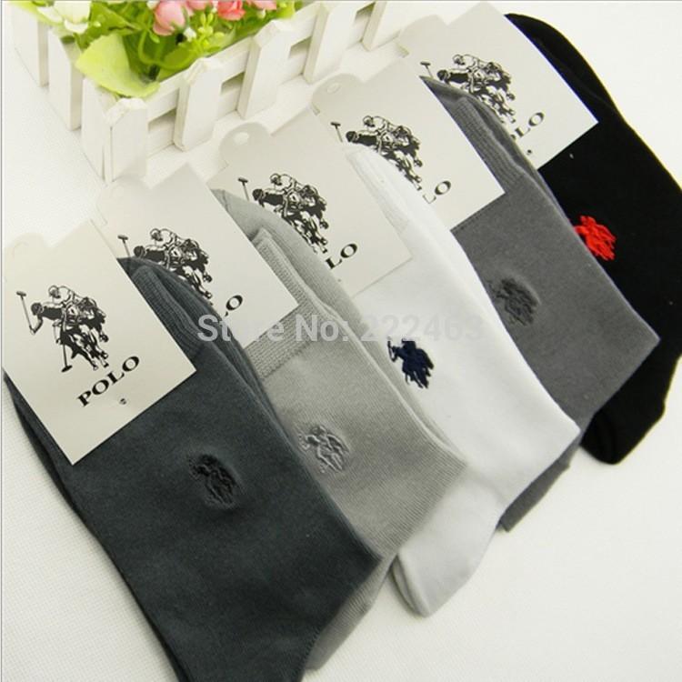 Free Shipping Hot Sale 2015 High Quantity POLO Four Seasons Socks (10pcs=5pairs/lot) Casual Men's Socks Brand Pure Cotton Socks(China (Mainland))