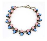 New 2014 Fashion Bohemian Candy Acrylic crystal Collar Choker Bib Statement Necklaces & Pendants Jewelry Women Wholesale XL0794