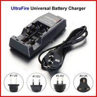 ( 10 pcs/lot ) UltraFire Universal WF-139 Dual 18650 Battery Charger AU Plug For 14500 18500 18650 Li-ion Battery Wholesale