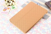 6 colors High Quality star pattern Plaid Design PU Leather Protective Skin for iPad 6 Case For Apple iPad Air 2 Case