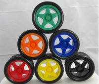 Free shipping Intelligent car robot with 6 colors quality tires Including the tank model wheel wheel parts