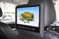 one pair 9 inchheadrest car seat back headrest monitor with digital panel  games IR FM USB SD