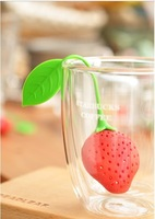 Strawberry Silicone Tea Candy Bag Filter Packet Strainer Red Yellow Pink Colors FDA Quality