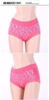 Plus size XXXL(3XL)women dot print underwear 100%bamboo fiber underpants comfortsoft bamboo fiber stretch briefs 6pcs/lot