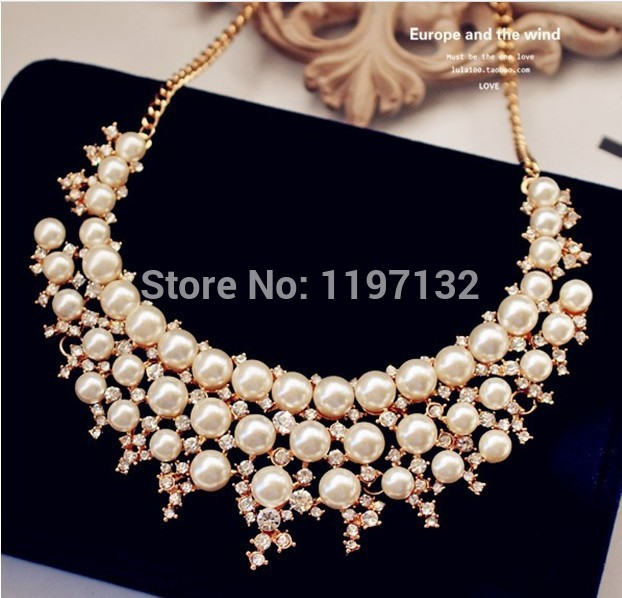 Wedding Jewellery Bridal Jewellery Korean beautiful short subsection Pearl Necklace(China (Mainland))