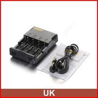 ( 3 pcs/lot ) Nitecore Intelligent I4 V2 Universal AAA C Battery Charger For 18650 CR123A Li-ion Battery UK Plug Wholesale
