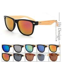 2015 New Bamboo Brand Design Wood Sunglasses Women Vintage Sun Glasses Men Retro Coating Sunglass Gafas Oculos De Sol feminino