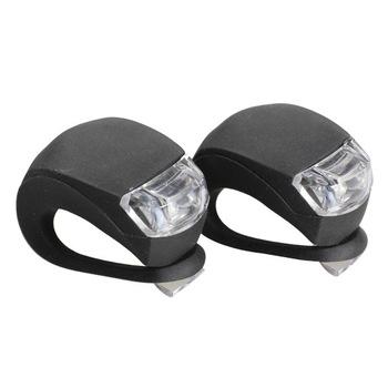 Новинка 2 шт. из светодиодов велосипед головного света передние задние колеса безопасность велосипед свет лампы черный NVIE