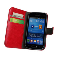 New Arrival PU Leather Wallet Flip Case Cover for Samsung Galaxy Trend Lite S7390 many color to choose