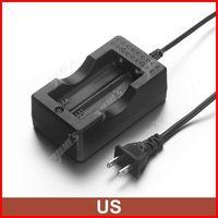 ( 10 pcs/lot ) Travel Dock Dual 18650 Battery Charger US Plug For 18650 Li-ion Battery Wholesale