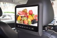 one pair 9 ''headrest car dvd player fm  with digital panel  games IR FM USB SD