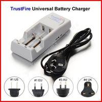 ( 10 pcs/lot ) TrustFire TR-001 Dual 18650 Battery Charger AU Plug For 16340 14500 18500 18650 Li-ion Battery Wholesale