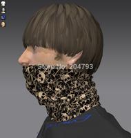 multi wear skull tube scarf