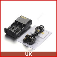 ( 5 pcs/lot ) Nitecore Intelligent I2 Universal AAA C Battery Charger For 18650 CR123A Li-ion Battery UK Plug Wholesale