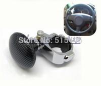 6pcs/lot NEW Carbon Fiber Hickory Black Car Auto Steering Wheel Suicide Spinner Handle Knob Booster Snakeskin