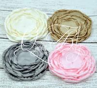 20pcs/lot Trial Order Handmade New Layered Poppy Flower Baby Headband Accessories