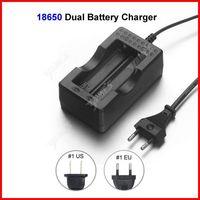 High Quality Travel Dock Dual 18650 Battery Charger EU Plug For 18650 Li-ion Battery Wholesale