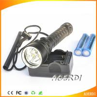 100% new 4000 Lumen 30W 3X CREE XML T6 LED Torch Lanterns for Diving Waterproof 100m Depth Underwater Diver LED FlashLight