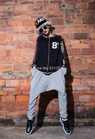 Letters Printing New Women Casual Harem Baggy Hip Hop Street Dance Sport Sweat Pants Trousers Slacks Gray Free Size FS3060