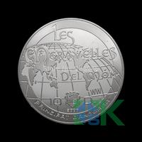 Wholesale 5pcs/lot Brazil Principat Dandorra silver plated coins 40*3mm Free shipping