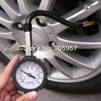 Hand Held Manual Tyre Pressure Gauge with Flexible Hose 0-100psi Motorcycle Car