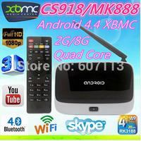 (10pcs/lot)MK888 2GB Ram 8GB Rom Quad Core RK3188 Cortex A9 Full HD Multi Media Player Android TV Box MK888 K-R42 CS918 EKB311B