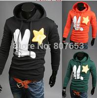 New 2015 Spring and Autumn Men Hoodies Fashion Plush Palm Printing Man Hoody Slim Fit Pullover Casual Hoodies Men Sweatshirt