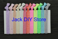 "12colors Free shipping 60pcs/lot 3/8"" frosted glitter elastic hair ties for Baby Children Kids Headbands Children Accessories"