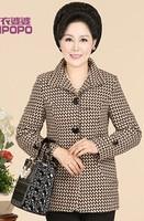 new antumn and winter women silm Wool coat woolen coat casual outwear jacket 3color XL-4XL