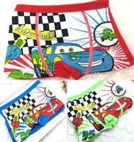 Kids boxer cartoon cars styling cute boxer briefs free shipping 2014 new brand cotton boutique pantalon nino boy clothing KA031
