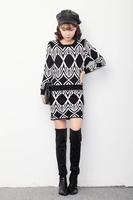 Winter new Women Korean sleeved knit skirt suit  free shipping