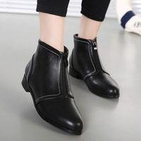 new arrival European style Fashion shoes short Boots high quality soft leather pointed toe square heels fashion design