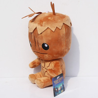 EMS Free shipping 60pcs/lot 20cm Hot Movie Guardians of the Galaxy plush toy the tree man Groot plush doll cute treant with tag