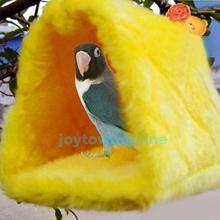 caldo lint pappagallo uccello letto di casa budgie soffice nido capannone camera da letto uccelli da compagnia sospeso hut taglia s BHU2(China (Mainland))